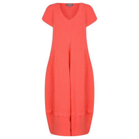Sahara Linen V Neck Bubble Dress - Pink