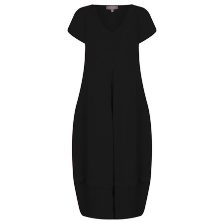 Sahara Linen V Neck Bubble Dress - Black