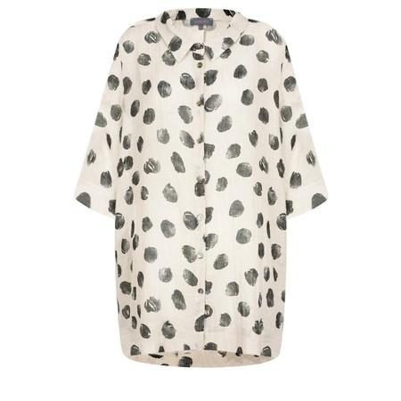 Sahara Spot Print Linen Shirt - Beige