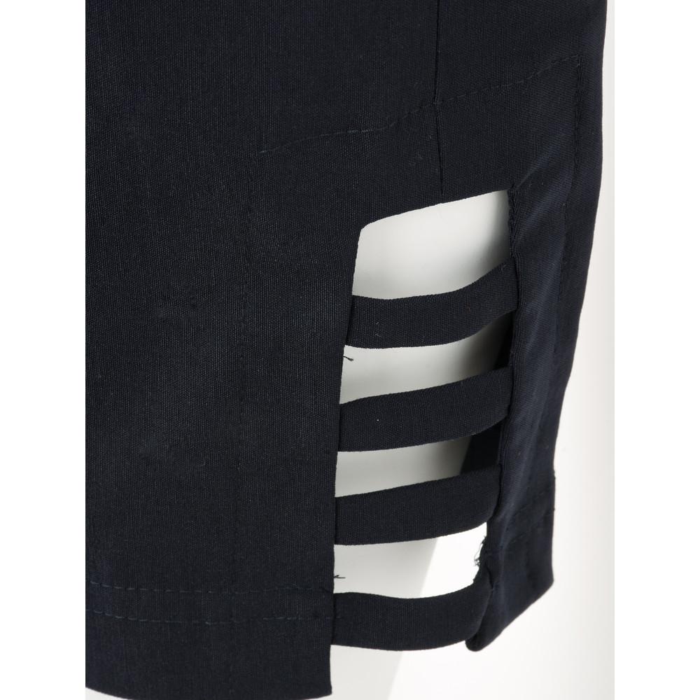 Robell Lena Navy Ankle Detail Cropped Trouser Navy