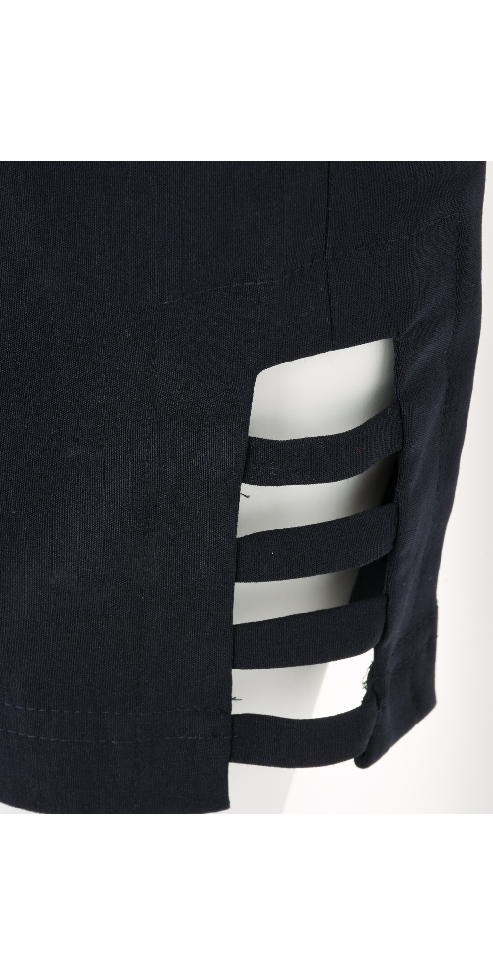 Lena Navy Ankle Detail Cropped Trouser main image