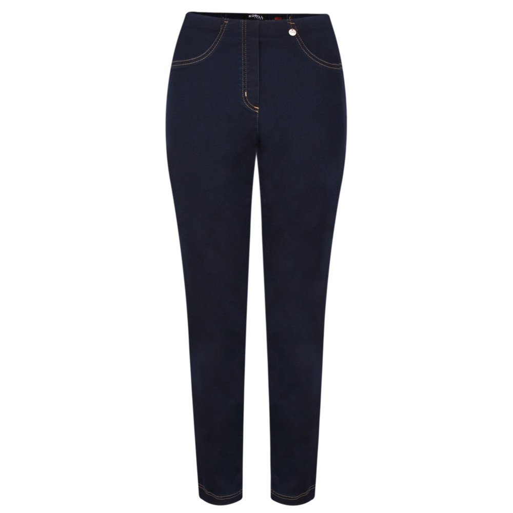 Robell  Bella Slim Fit Full Length Jean Navy/Contrast