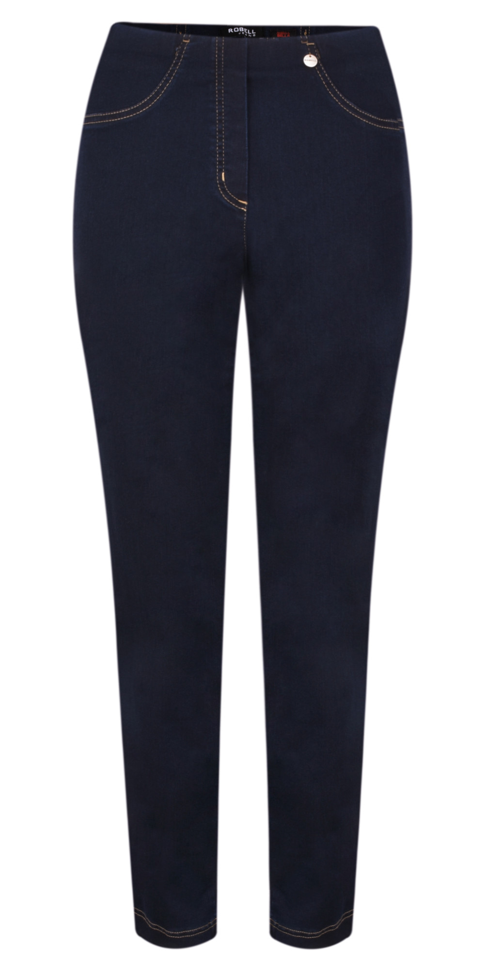 40d165f1f8fa Robell Trousers Bella Slim Fit Full Length Jean in Navy Contrast