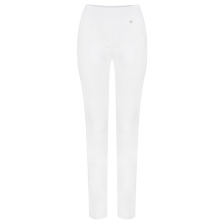 Robell Trousers Rose 78cm Super Slim Fit Jean - White