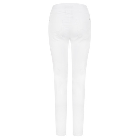 Robell Trousers Rose 78cm Super Slim Fit Jean - White