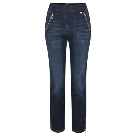 Robell Trousers Nena Ankle Zip Jeans - Blue