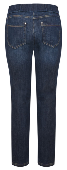 Robell  Nena Ankle Zip Cropped Jeans Navy