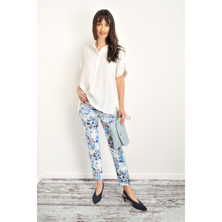 Robell Trousers Bella 09 Multi Floral Printed Trouser - Multicoloured