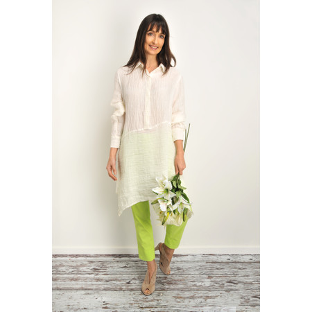 Grizas Enrika Crinkle Linen Shirt - White