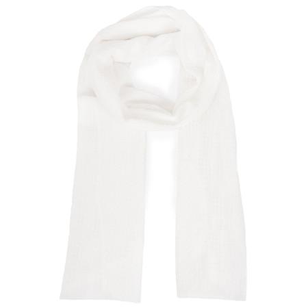 Grizas Migle Solid Check Scarf - White