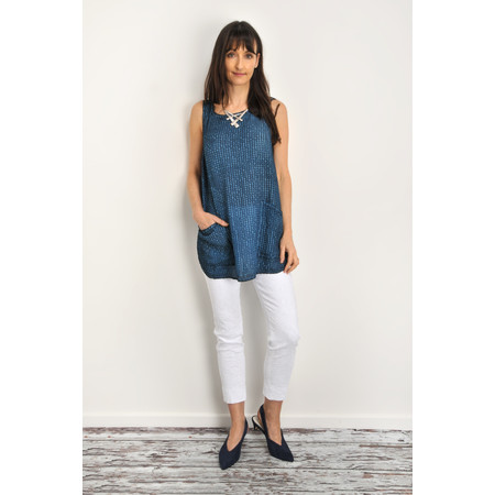 Grizas Diana Oliato Check Top - Blue