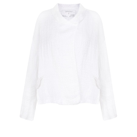 Grizas Claudia Jacquard Linen Jacket - White