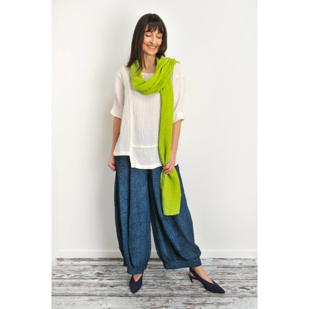Grizas Mira Solid Crinkle Scarf - Green