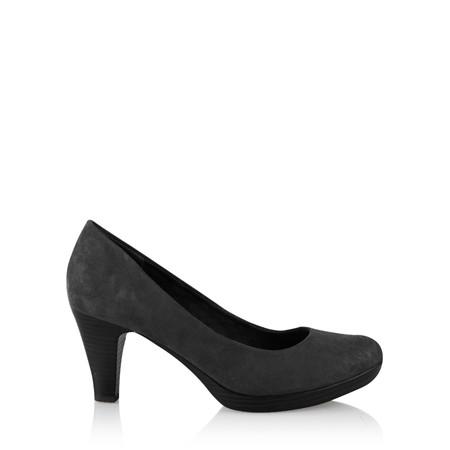 Marco Tozzi Imit Suede Shoe - Black