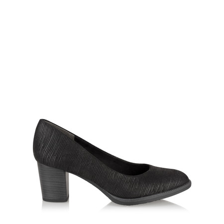Marco Tozzi Maria Printed Court Shoe - Black