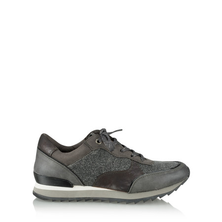 Marco Tozzi Metallic Mix Trainer Shoe - Metallic