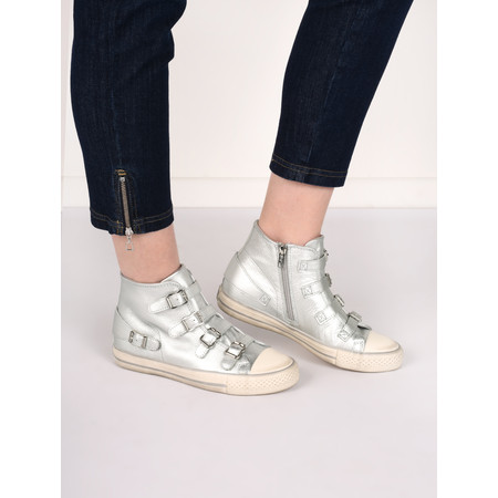 Ash Venus Buckle Trainer Shoe - Metallic