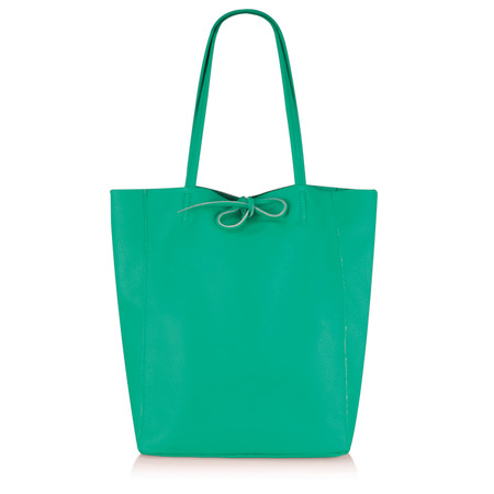 Gemini by PWA  Ribera Leather Tote Bag  - Green