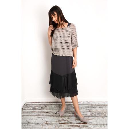 Myrine Forsyth Lurex Cropped Knit - Beige