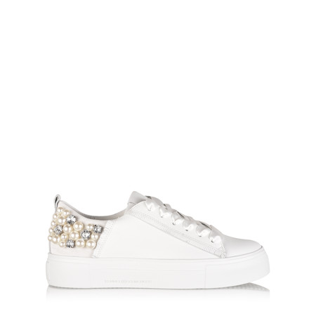 Kennel Und Schmenger Big Pearl Crystal Trainer Shoe - White