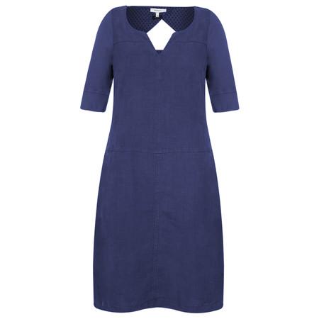 Sandwich Clothing Linen Cutout Back Dress - Blue