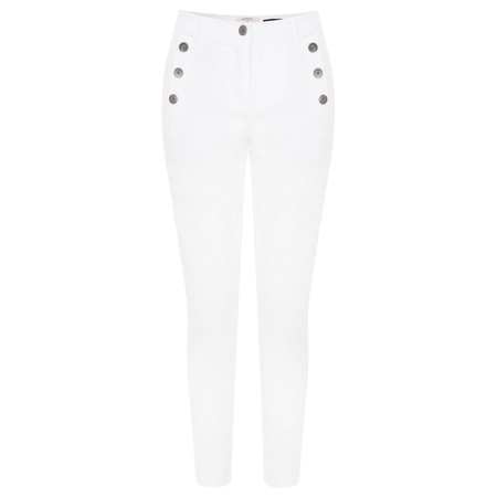 Sandwich Clothing Button Detail Cropped Trousers - White