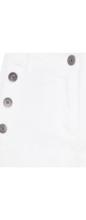 Sandwich Clothing Button Detail Cropped Trousers Pure White