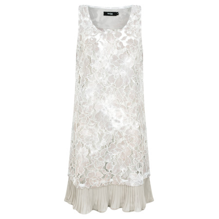 Myrine Gentia Lace Dress - Beige