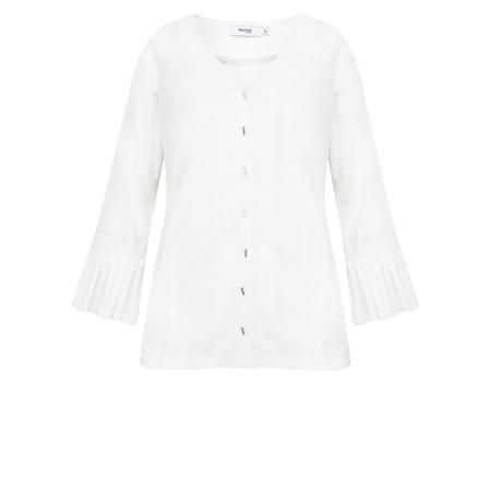Myrine Basilic Comfort Cotton Top - White
