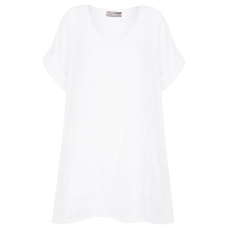TOC  Bria Linen Top - White