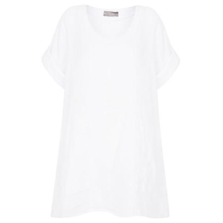 TOC  Bria Linen Top - White
