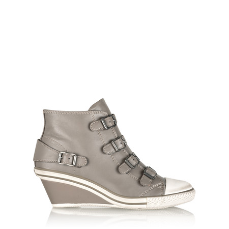 Ash Genial Wedge Buckle Trainer Shoe - Beige