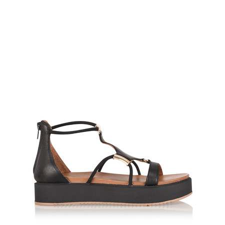 INUOVO Miray Platform Sandal - Black