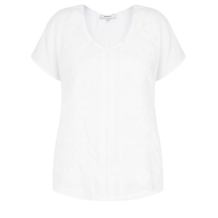 Sandwich Clothing Aztec Embroidery Top - White