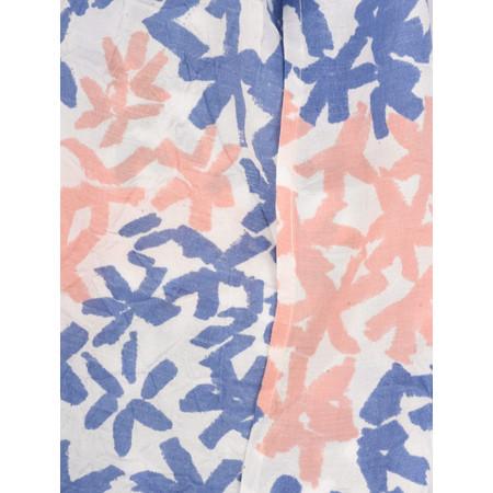 Masai Clothing Along Abstract Star Print Scarf - Blue