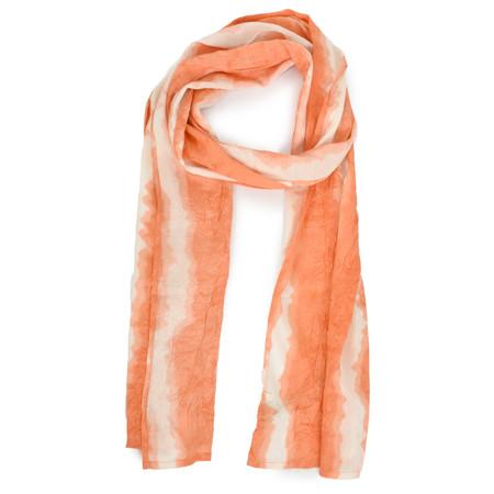 Masai Clothing Along Tie-dye Scarf - Orange