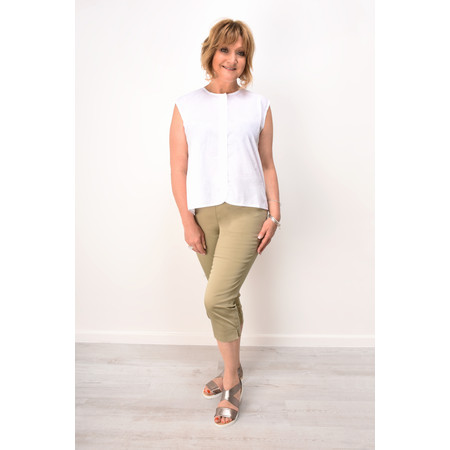 Masai Clothing Peach Capri Trousers - Beige
