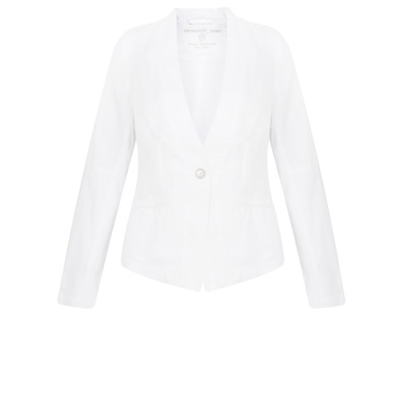 Sandwich Clothing Easy Fit Linen Jacket - White