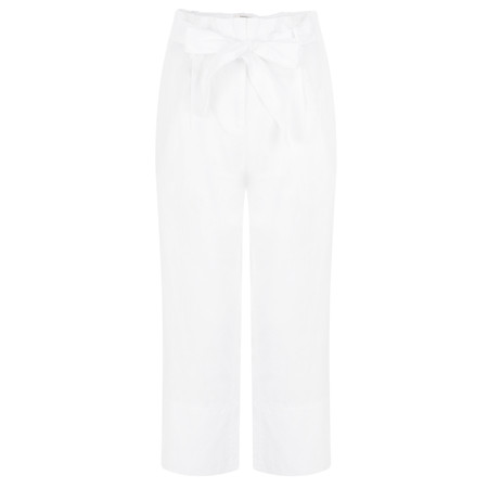 Sandwich Clothing Casual Cropped Linen Trouser - White