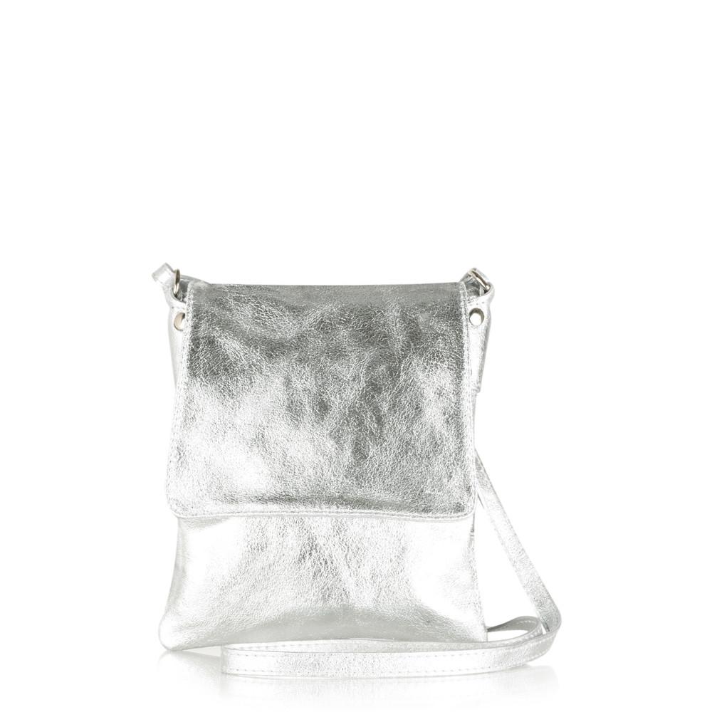 Gemini Label Bags Paige Cross Body Bag Silver