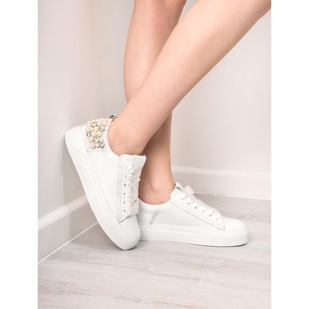 Kennel Und Schmenger Big Pearl Crystal Trainer Shoe - White