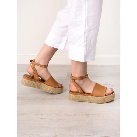 INUOVO Elif Platform Yute Sandal - Brown
