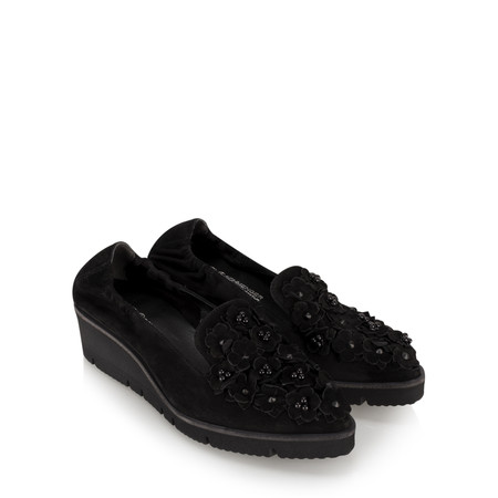 Kennel Und Schmenger Doro Flower Wedge Shoe - Black