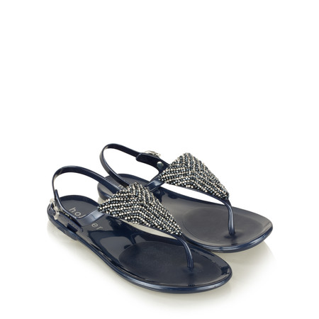 Holster Ibiza Beaded Sandal - Blue