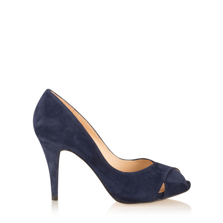 Unisa Shoes Taner Peep Toe Court Shoe - Turquoise