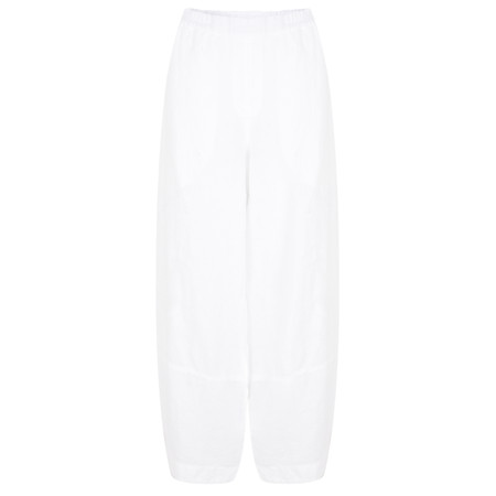 Grizas Sandra Plain Linen Trouser - White