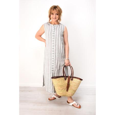 Grizas Vaka Stripe Linen Dress - Beige