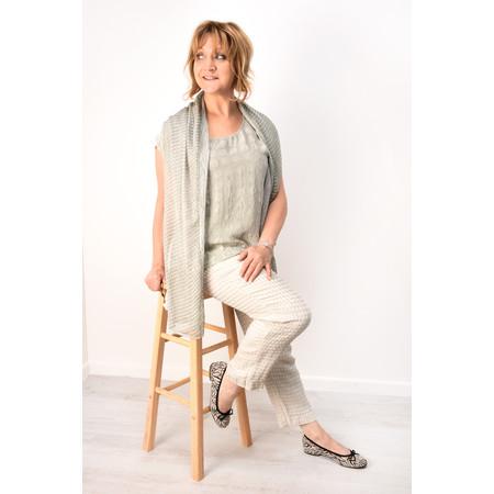 Grizas Rosita Jacquard Linen Trouser - Beige