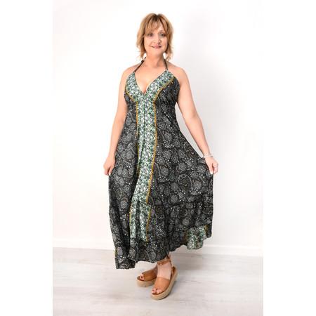 Lara Ethnics Petal Frill Dress - Black