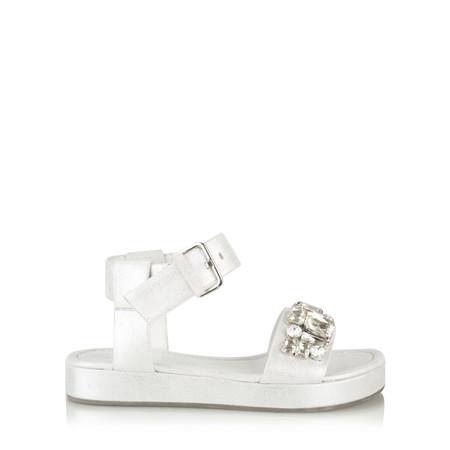 Kennel Und Schmenger Neo Laos Metal Crystal sandal - White